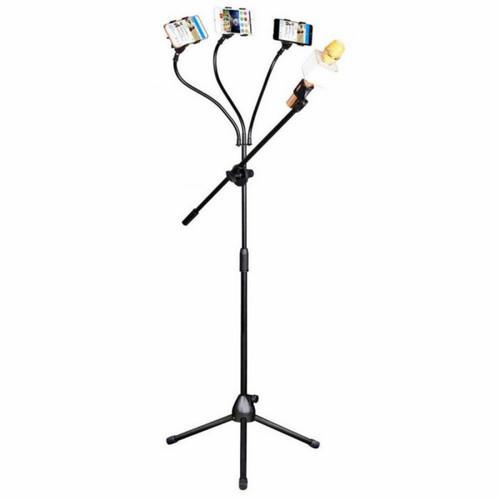 Foto Produk Pro Stand Microphone & Smartphone Holder 5 in 1/Jumbo Stand Mic - Tiga Holder Hp dari Green Moss Gadget