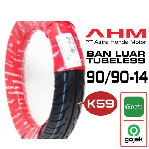Foto Produk HONDA AHM BAN LUAR TUBELESS K59 BELAKANG 90/90-14 dari BeBe.ID