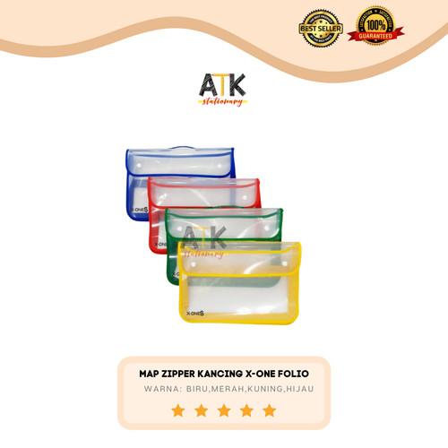 Foto Produk Map Plastik Zipper Bag Kancing X-One atk - Kuning dari Atkstationary