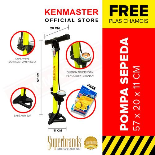 Foto Produk Kenmaster Pompa Sepeda Tabung Kuning KM-5435B NEW - Kuning dari Kenmaster Official