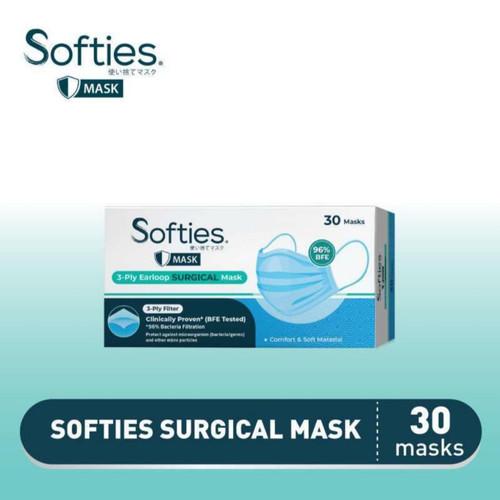 Foto Produk Softies Surgical Mask 30s isi 30 Masker Medis (spt Sensi Nexcare 3M) dari bestdeal official