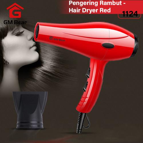 Foto Produk GM Bear Pengering Rambut Profesional Serbaguna Merah 1124-Hair Dryer dari GM Bear