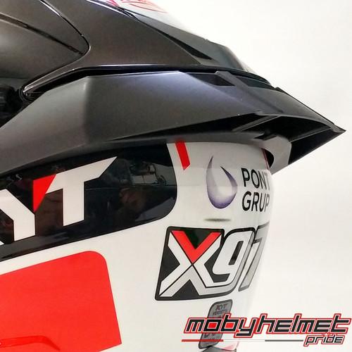 Foto Produk Spoiler Helm KYT Vendetta 2 . Falcon - 3D GPR - Clear.Dark - Spoiler Doff dari Moby Helmet Pride