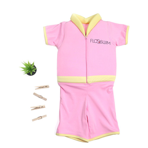 Foto Produk [Free Kacamata Renang] Baju Renang Anak Pelampung Floswim Standar - Pink, M dari Elang Kecil