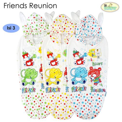 Foto Produk Bedong Instan Topi Little Duck Set (Isi 3) - Friends Reunion dari Tokobabyshop