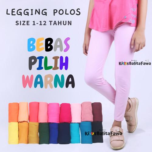 Foto Produk (SIZE LENGKAP) Legging Polos Anak Perempuan / Celana Panjang Adem Kaos - 1-2 tahun dari Kios Balita Fawa