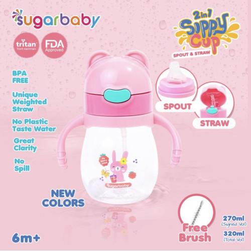 Foto Produk SUGAR BABY Tritan Sippy Cup 2in1 320 ml / Botol Bayi - Berry Juice dari Hello! Baby Official