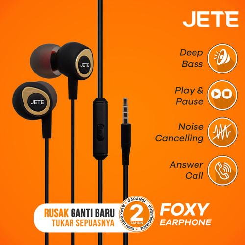 Foto Produk Headset | Handsfree | Earphone JETE FOXY - Hitam dari JETE Official Surabaya