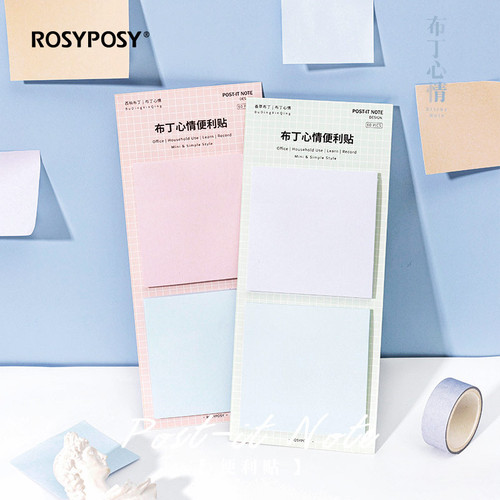 Foto Produk Pastel Candy Block Sticky Notes - Catatan Tempel - Kertas Catatan dari Pinkabulous