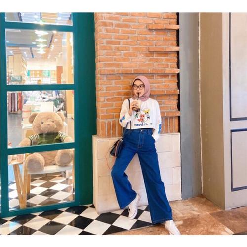 Foto Produk MYREDO - Celana Jeans Boyfriend Wanita Model Kulot Audrie - TUA, 29 dari myredo