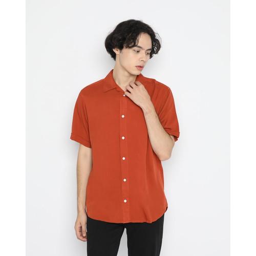Foto Produk Kemeja Pria Erigo Short Shirt Vicente Rayon Orange - S dari Erigo Official