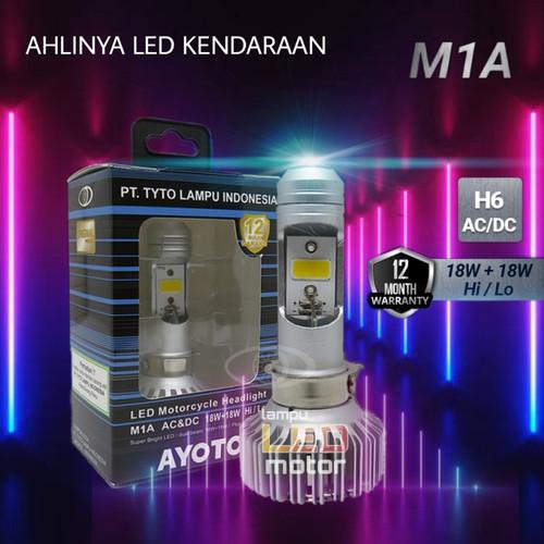 Foto Produk Lampu LED Utama Motor LED AYOTO M1A H6 AC DC Motor Bebek Matic AC & DC dari TejaMart