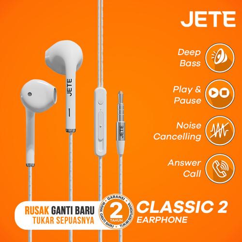 Foto Produk Headset | Handsfree | Earphone JETE CLASSIC 2 - Putih dari JETE Official Surabaya