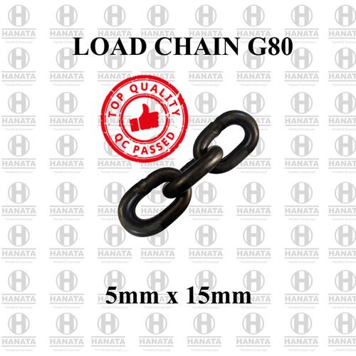 Foto Produk Rantai Baja / Load Chain G80 5mm x 15mm dari Hanata Lifting Official