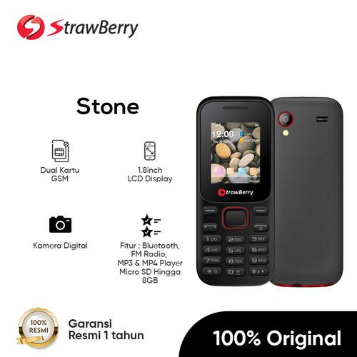 Foto Produk Strawberry - Stone / Candybar / Handphone Murah / Kamera Digital - Hitam dari Strawberry Official