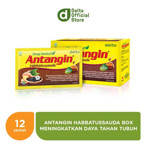 Foto Produk Antangin Habbatussauda Sirup Herbal Box (12 sachet) dari Deltomed Store
