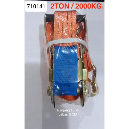 Foto Produk 710141 RATCHET TIE DOWN 10M WEBBING CARGO LASHING BELT TRACKBELT 2 TON dari Toko Target