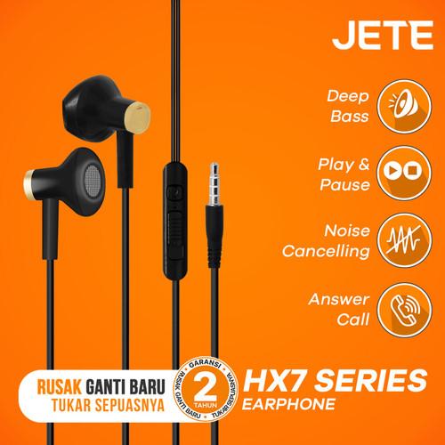 Foto Produk Headset | Headphone | Handsfree | Earphone JETE HX7 Deep Bass - Black Gold dari JETE Official Surabaya