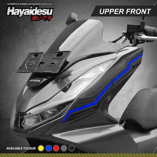 Foto Produk Hayaidesu PCX 160 Body Protector Upper Front Cover - Biru dari Hayaidesu Indonesia