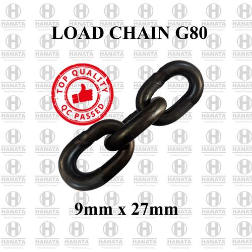 Foto Produk Rantai Baja / Load Chain G80 9mm x 27mm dari Hanata Lifting Official