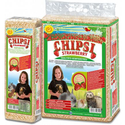 Foto Produk CHIPSI Strawberry Wood Chip Litter 1kg dari Bakpao Rabbit