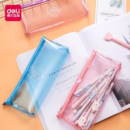 Foto Produk Deli Pencil Pouch / Tempat Pensil Anti Air Bahan PP PVC 6679X 66815 - TYPE 2 dari Deli Stationery