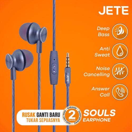 Foto Produk Headset | Handsfree | Earphone JETE SOULS Super Bass - Abu-abu dari JETE Official Surabaya