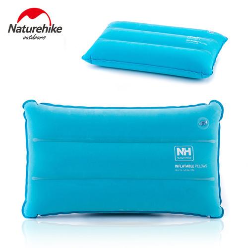 Foto Produk Travel pillow naturehike NH18F018-Z bantal angin bantal tiup lipat - blue dari camping traveller