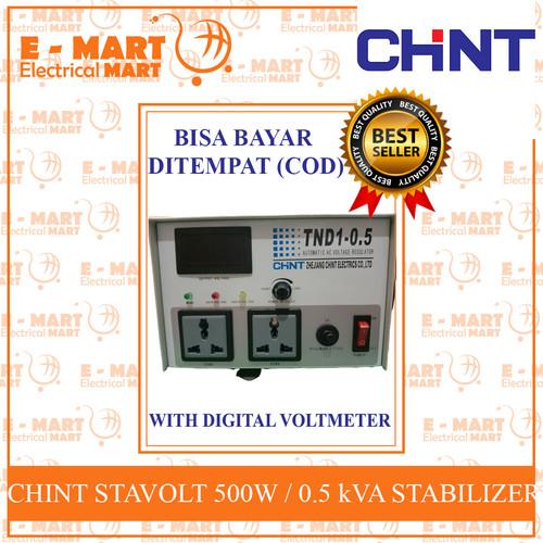 Foto Produk CHiNT Stabilizer 500W / Stavolt TND1-0.5 0.5kVA dari ElectricalMART ID
