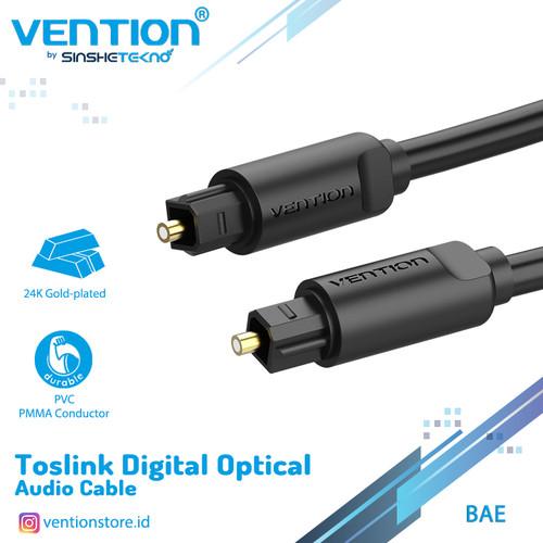 Foto Produk Vention [BAE 2M] Kabel Toslink Digital Audio Optical / Fiber Optik - Hitam dari VENTION by SinsheTekno