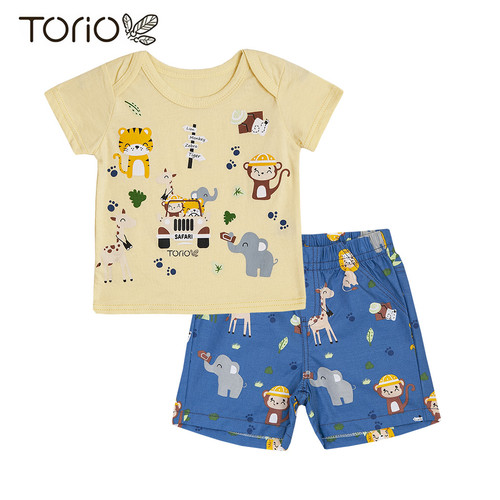 Foto Produk TORIO Safari Short Pant Set - Baju Setelan Anak Laki-Laki - Baju Bayi - 3-6 bulan dari Torio