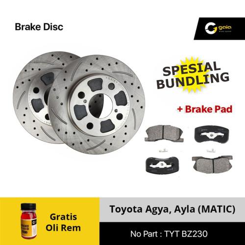 Foto Produk Brake Disc Rotor Agya Ayla MATIC GAIA BZ230 Original dari NEW INTI OTOPART BANDUNG