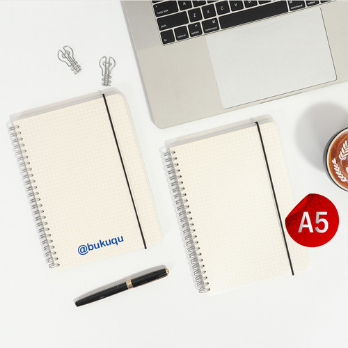 Foto Produk Notebook Spiral Grid/DOT A5 by Bukuqu - White paper, polos dari Bukuqu