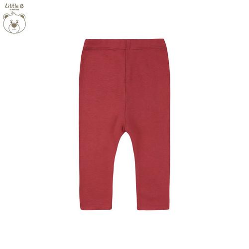Foto Produk Little B By MacBear Celana Legging Bayi Basic Collection Little Taveti - Cherry Red, SIZE 6-9M dari MacBear ID