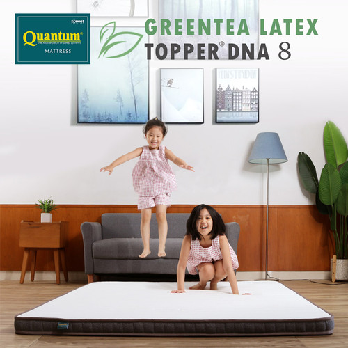 Foto Produk Quantum Topper Greentea Latex DNA 8cm - Kasur Spring bed Springbed - 90 x 200 dari Quantum Springbed