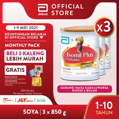 Foto Produk Isomil Plus Advance Soya 850 g (1-10 tahun) Susu Pertumbuhan - 3 klg dari Abbott Official Store
