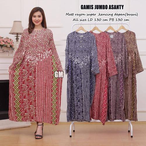 Foto Produk Daster Batik Lengan Panjang Jumbo Besar Bigsize Adem dari Bunda Mayra Shop