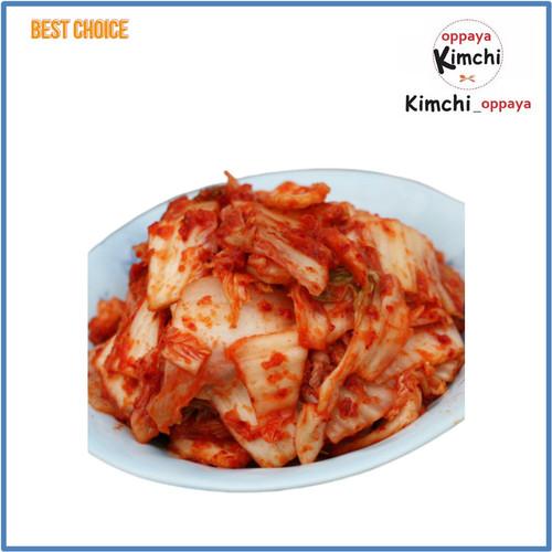 Foto Produk kimchi SAWI RASA MANIS korea 500 gram Enak Halal Harum manis dari kimchi oppaya