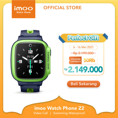 Foto Produk imoo Watch Phone Z2 - HD Video Call - APPLE GREEN dari imoo Official Store