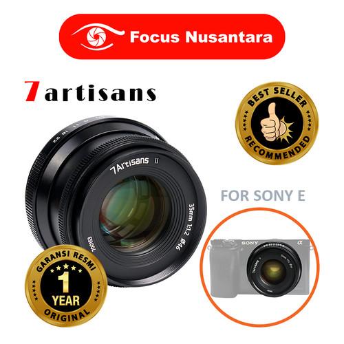 Foto Produk 7ARTISANS 35mm F1.2 Mark II Lens (APSC) For Sony E dari Focus Nusantara
