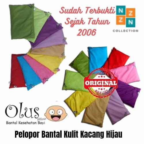 Foto Produk Olus Pillow Bantal Bayi Anti Penyang Kulit Kacang Hijau Original - Hijau muda dari NizamZiya Collection