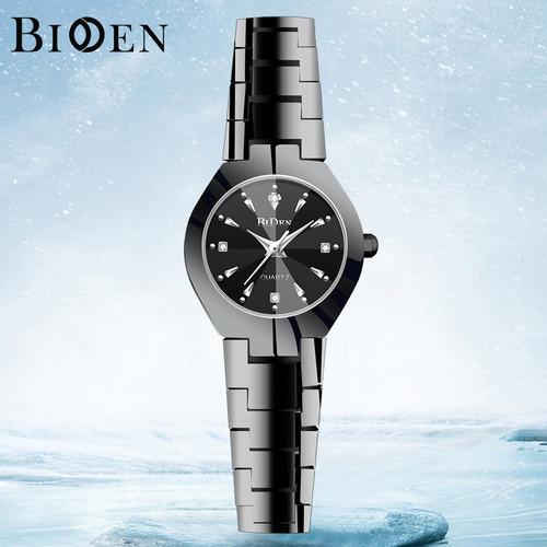 Foto Produk jam tangan wanita BIDEN mode bisnis 3ATM Tahan Air wanita Mewah Kasual - Hitam dari BIDEN Official Store
