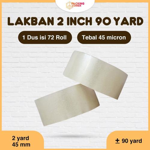 Foto Produk Lakban Solatip Isolasi OPP Bening 2 Inch 45mm x 90 Yard 45micron MURAH - 90yard - 70m dari Packing Corner
