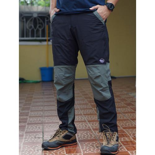 Foto Produk celana panjang outdoor gunung celana quickdry tnf the north face - hitam abu 073, XL dari zaeventure
