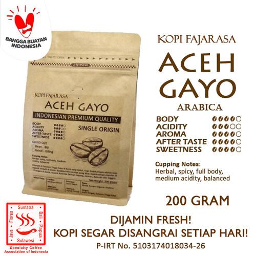 Foto Produk Kopi Fajarasa Aceh Gayo Biji Kopi Arabica 200 gram - Bean dari Kopi Jayakarta