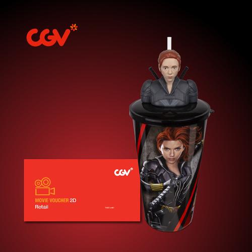 Foto Produk Black Widow Cup + Topper - Black Widow dari CGV CINEMAS