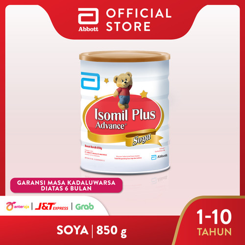 Foto Produk Isomil Plus Advance Soya 850 g (1-10 tahun) Susu Pertumbuhan Bubuk dari Abbott Official Store