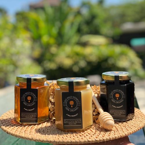 Foto Produk 1 Set madu asli tipe Jelly honey, wildflower honey, jungle honey dari Go Wild Honey Madu Asli