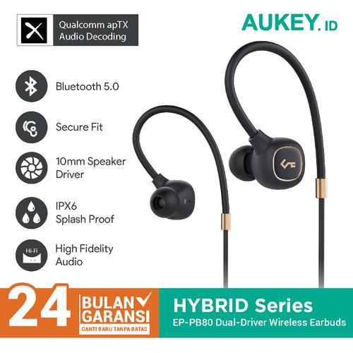 Foto Produk Aukey Headset EP-B80 Hybrid Dual-Driver Wireless Earbuds - 500390 dari Aukey Makassar