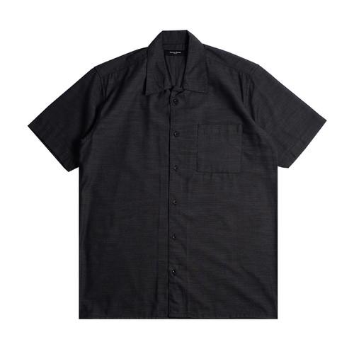 Foto Produk Cotton Goods Kemeja Pendek Bowling Okan Black Grey - S dari COTTON GOODS STORE